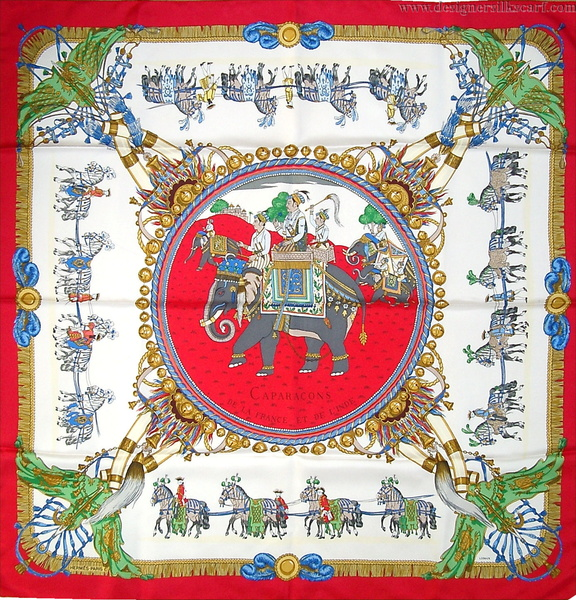 Caparacons de la France et de l Inde   HSCI Hermes Scarf Photo Catalogue d6c97b70bde