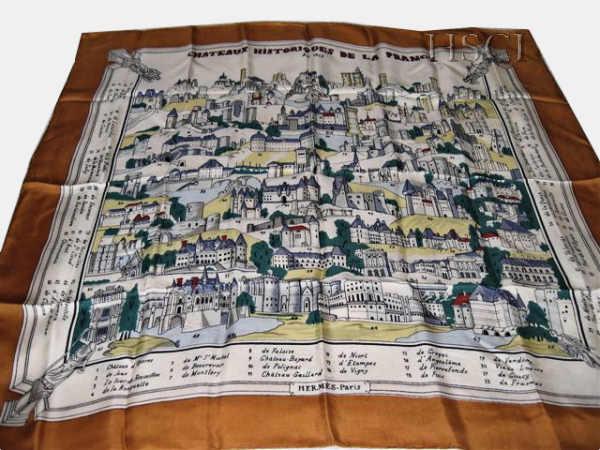 Chateaux Historiques de la France   HSCI Hermes Scarf Photo Catalogue f6debef55ae